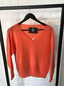 Pull V-Hals Oranje