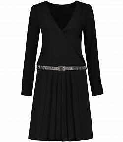 Nikkie 'River' jurk zwart detail riem