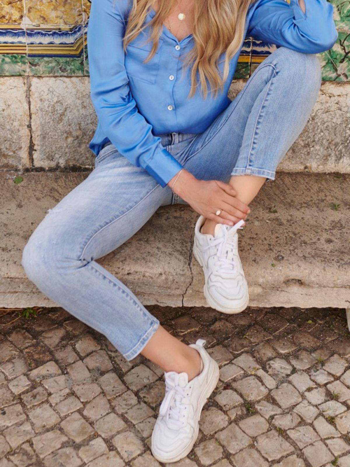 Jeans Blauw Damaged