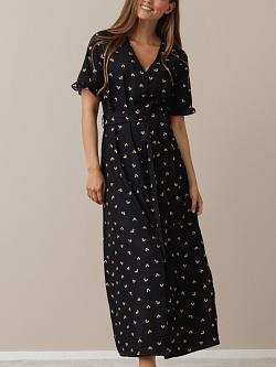 Uma Dress Black Heart Print