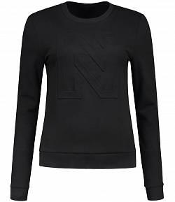 Nikkie sweater zwart logo 3D