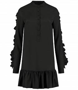 Nikkie 'Rena Frill' jurk zwart