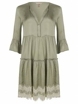 Dress Satin Lace Bottom