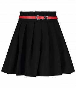 Nikkie rok zwart detail riem rood