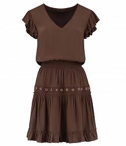 Nikkie 'Reza' jurk walnut