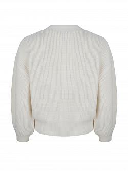 Cardigan V-Neck Off White Short